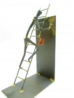 Peintre en bâtiment échelle